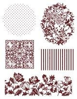 Razítka - Pozadí květy