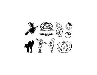 Gelová razítka- Halloween