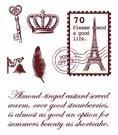 Gelová razítka - Pošt.známka Paříž
