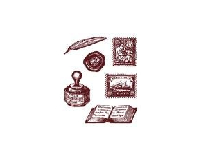 Gelová razítka - Známky, pečeť, kalamář