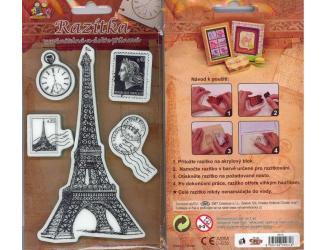 Razítka na pěnovce - Eiffel Tower