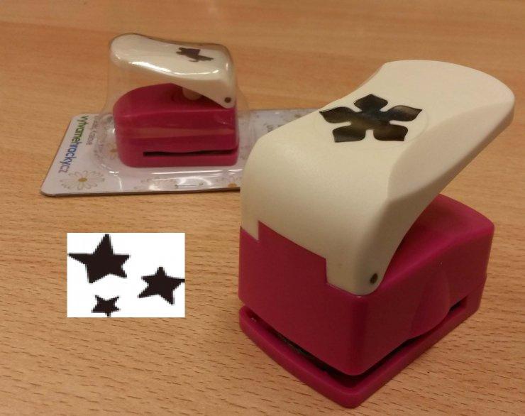 Děrovačka 25mm puzzle- 3 hvězdyII