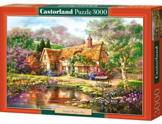 Puzzle 3000 dílků- Chaloupka malovaná