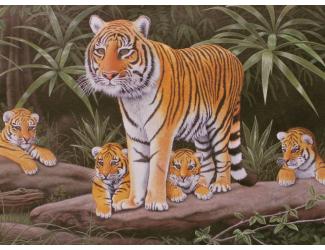 Malování podle čísel - Tygřice a mláďata