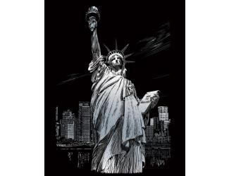 ROYAL and LANGNICKEL Stříbrný vyškrabovací obrázek - Socha Svobody