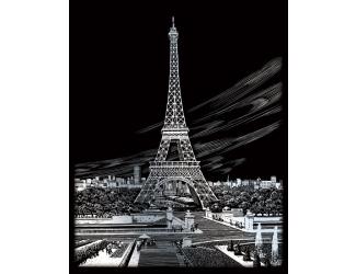 Vyškrabovací obrázek- Eiffelova věž