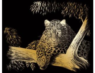 Vyškrabovací obrázek - Na stromě