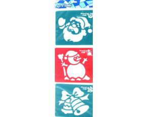 Šablony 3 ks - zvonec, sněhulák a Mikuláš