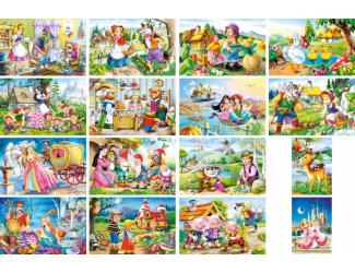 Minipuzzle 54 Pohádky - mix 32ks v balení