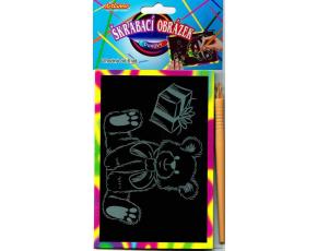 Vyškrabovací obrázek- duhové, v balení 24 ks, zadejte počet kusů, cena je za 1ks