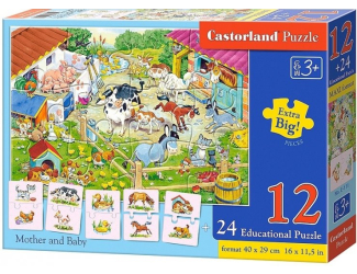 Puzzle 12 dílků a 24 puzzlí do páru