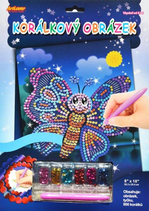 Korálkový obrázek Motýl