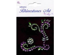 Samolepicí kamínky - dekorace fialová