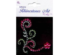 Samolepicí kamínky - dekorace růžová