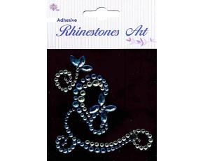 Samolepicí kamínky - dekorace modrá