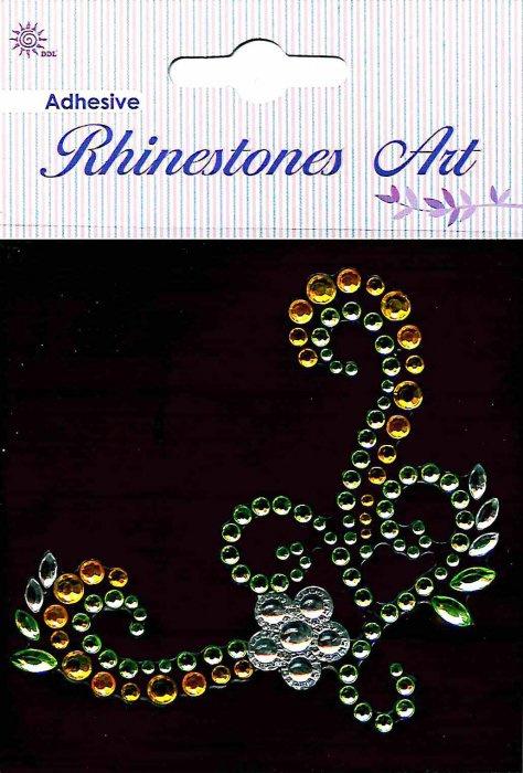 Samolepicí kamínky - dekorace žlutá
