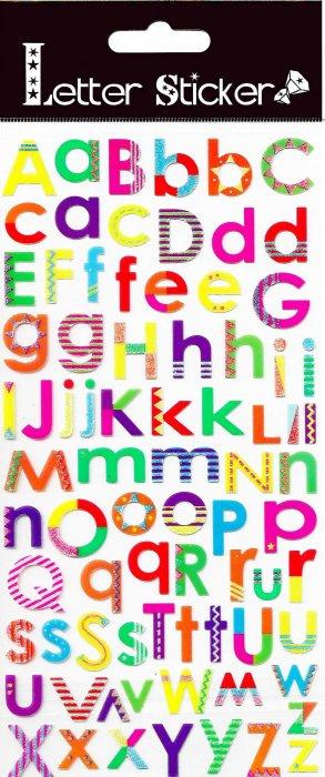 Samolepicí písmenka - barevná