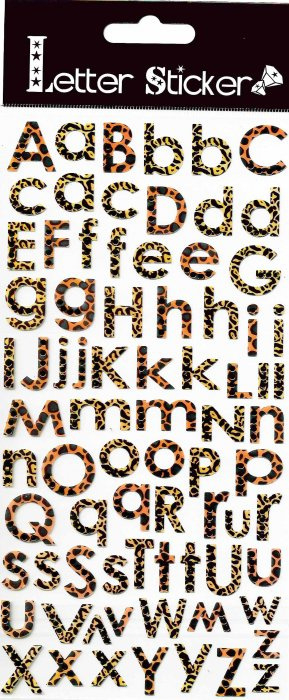 Samolepicí písmenka - tygrovaná