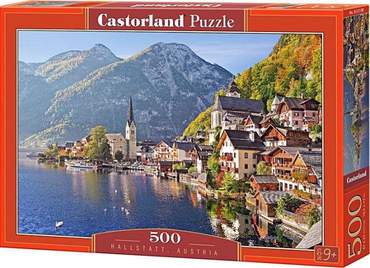 Puzzle Castorland 500 dílků - Hallstatt, Rakousko