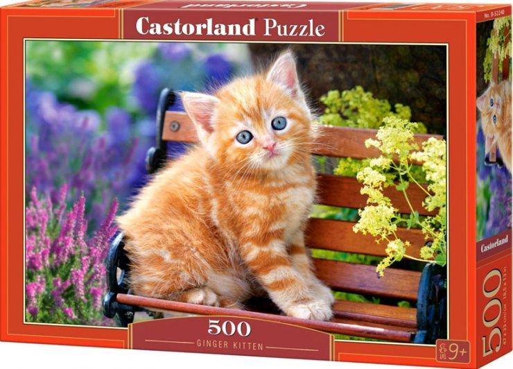 Puzzle Castorland 500 dílků - Kotě na lavičce