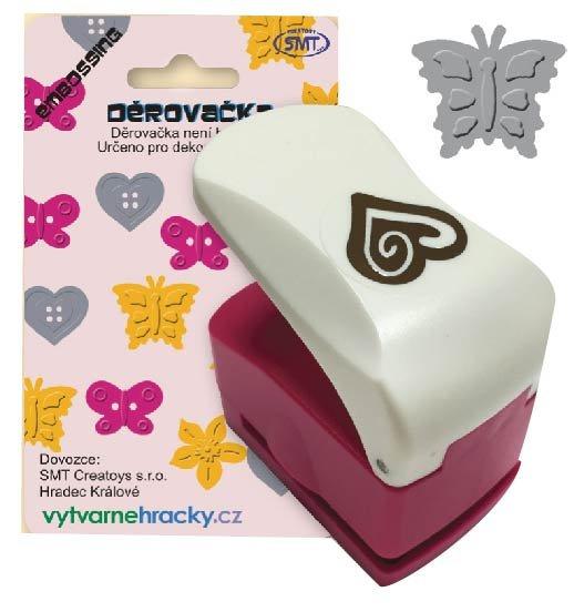 Děrovačky s embosing efektem - motýl 2