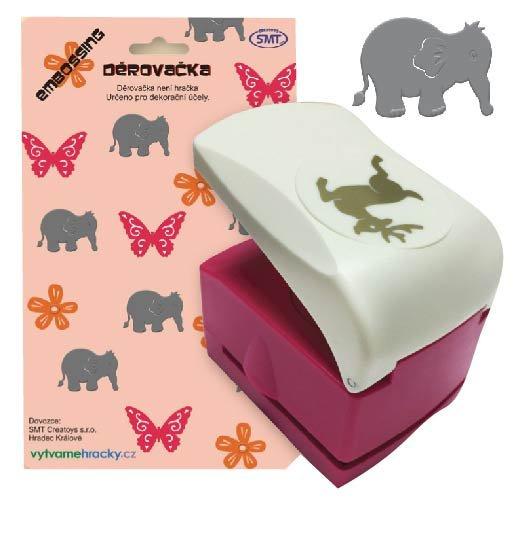 Děrovačky s embosing efektem - slon