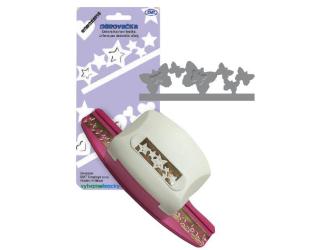 Děrovačky bordura - motýlci