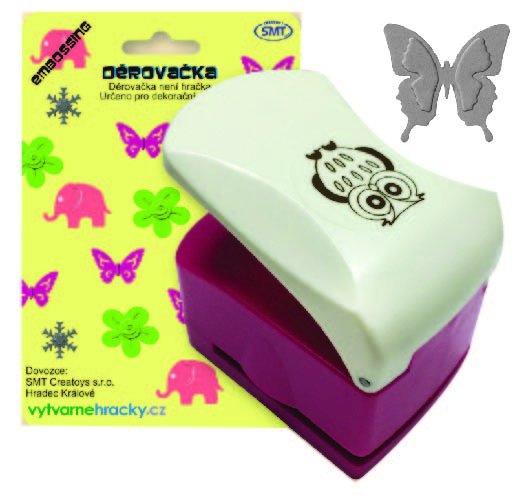 Děrovačka s embosing efektem - motýl