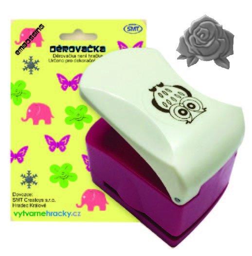 Děrovačka s embosing efektem - květ růže