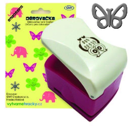 Děrovačka s embosing efektem - motýl - EO32*29