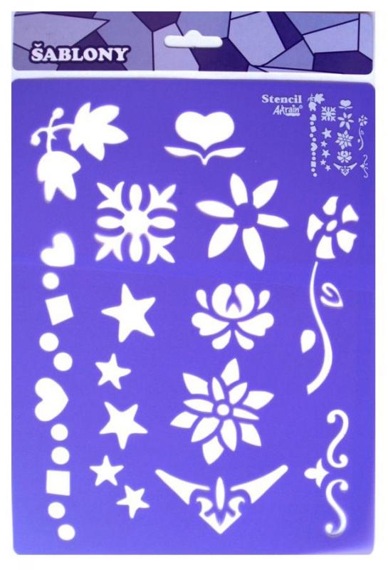 Šablona- květiny