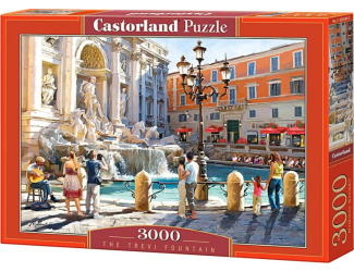 Puzzle 3000 dílků-Fontana Di Trevi Italie