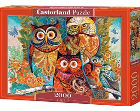 Puzzle Castorland 2000 dílků - Sovy