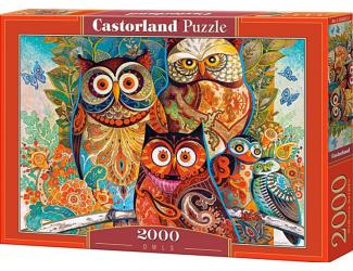Puzzle 2000 dílků- Sovy