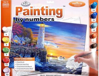 Malování podle čísel- Maják