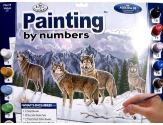 Malování podle čísel- Vlci