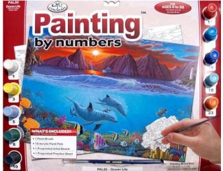 Malování podle čísel- Podmořský svět