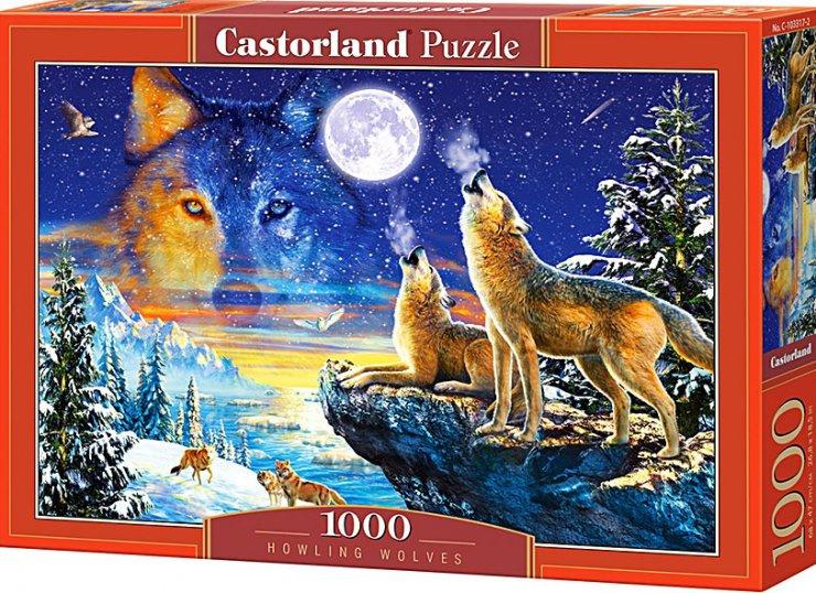 Puzzle Castorland 1000 dílků - Vyjící vlci