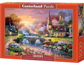 Puzzle 3000 dílků- Kostelík s mostem