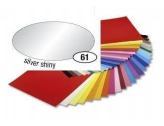 Barevný papír 130g A4 - Stříbrný, leskly, 1ks