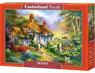 Puzzle 3000 dílků- Chaloupka v lese