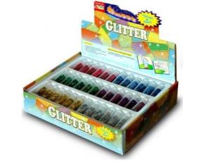 Doplňky mix barev 72 kusů v boxu - třpytky kuličky