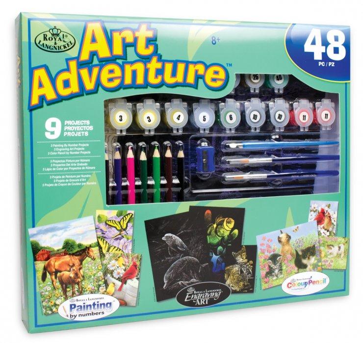 Art Adventure- velká sada tvoření - Zelenomodrá