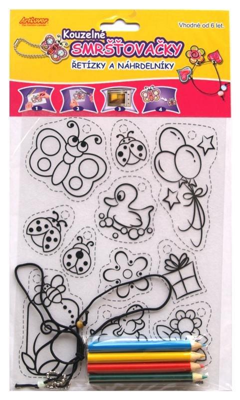 Smršťovací obrázek- Řetízky a náhrdelníky, balónky