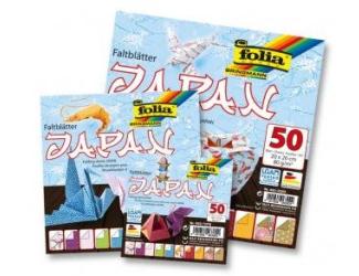 Papíry na skládání Origami, 50 listů, 10x10 cm, 80g – Japonsko
