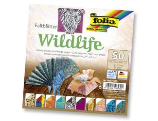 Papíry na skládání Origami, 50 listů, 15x15 cm, 80g – divočina