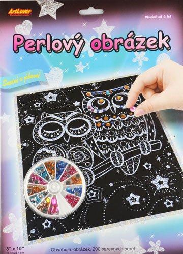 Perlový obrázek - sovičky