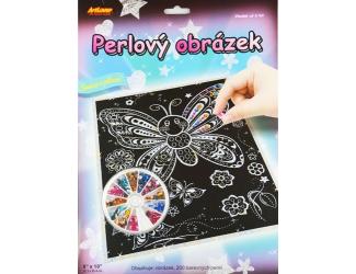 Perlový obrázek - motýlci
