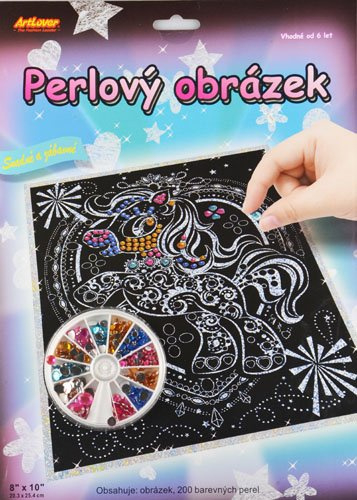 Perlový obrázek - koníček