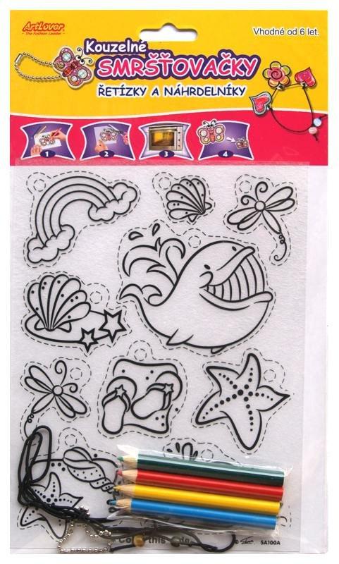 Smršťovací obrázek- Řetízky a náhrdelníky, velryba